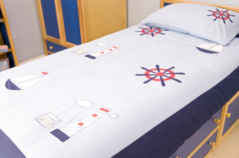Breezy Ships Duvet Cover