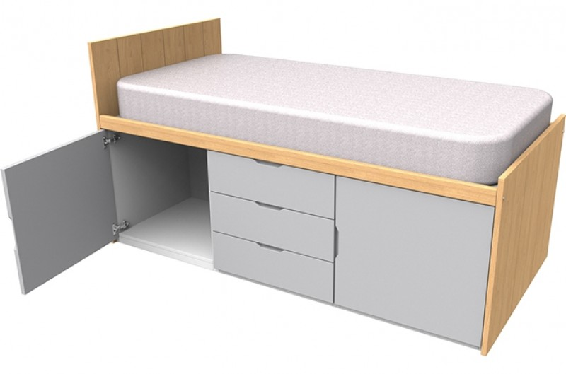 Savannah Grey Cabin Bed