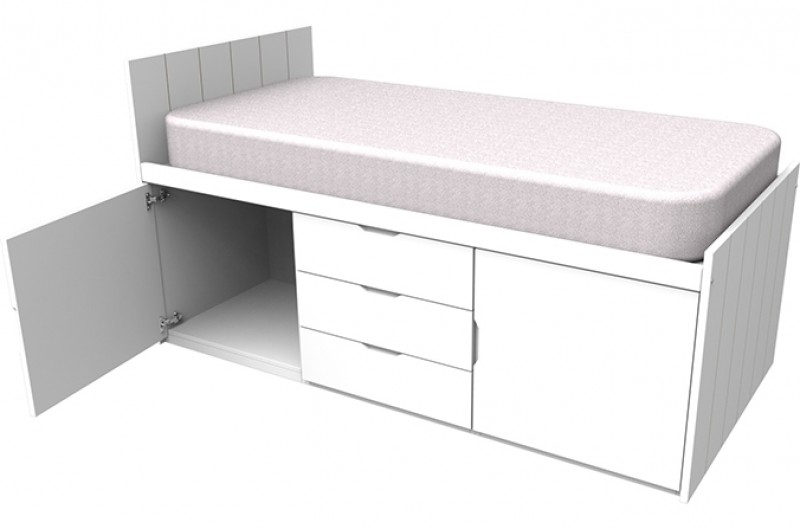 Savannah White Cabin Bed