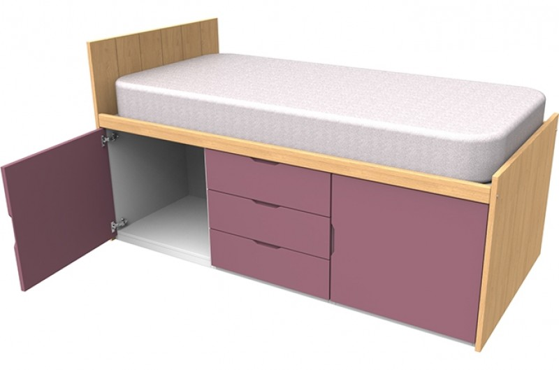 Savannah Pink Cabin Bed