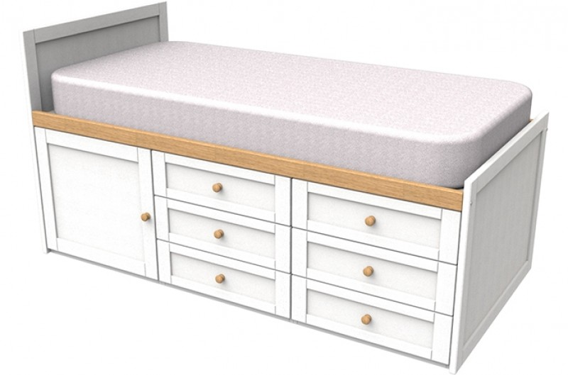 Sierra White Cabin Bed