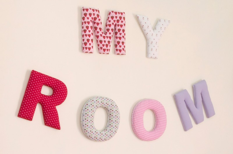 Fabric 'My Room' Letters
