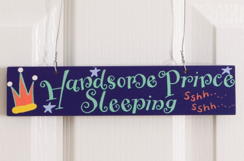 Handsome Prince Door Plaque