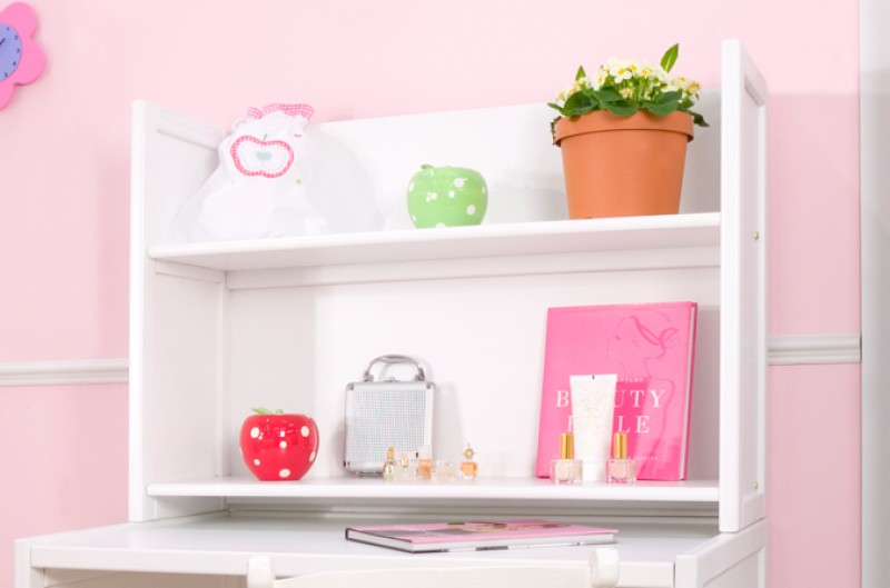 Kids Small White Shelves