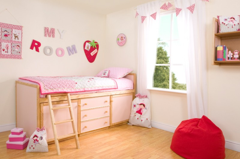 Kids Cabin Bed - Available in Blue and Pink
