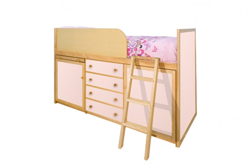 Captains Bed - Available in Blue and Pink