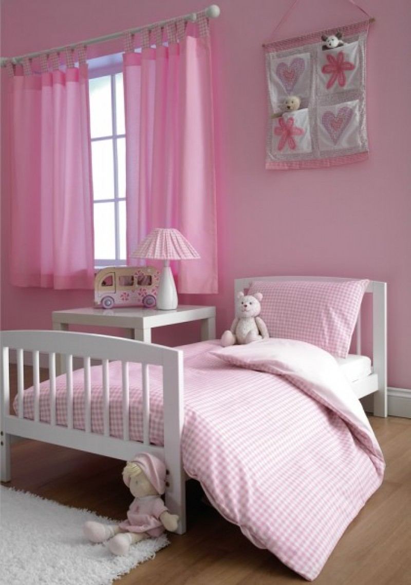Pink Gingham Toddler Duvet Cover