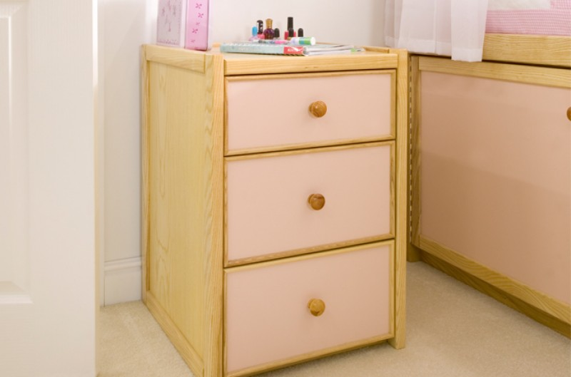 Kids Three Drawer Chest - Available in Blue or Pink