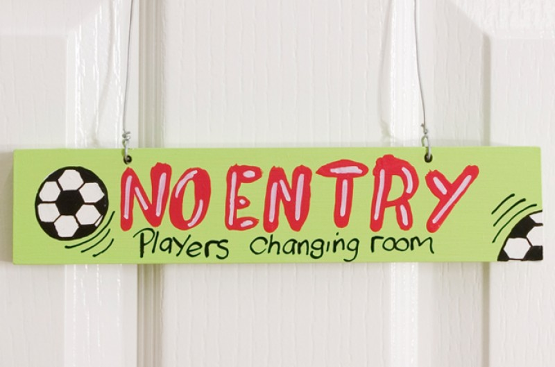 Players Changing Room Door Plaque