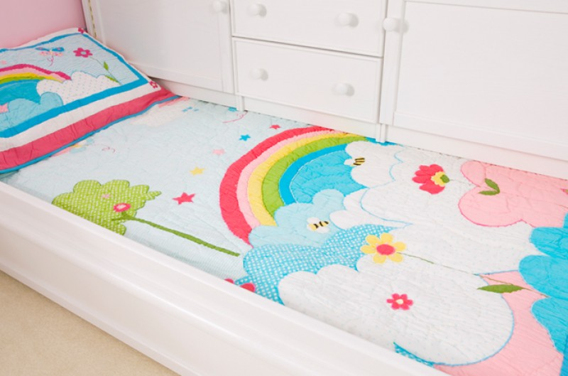 Rainbow Quilt and Pillowsham - Single