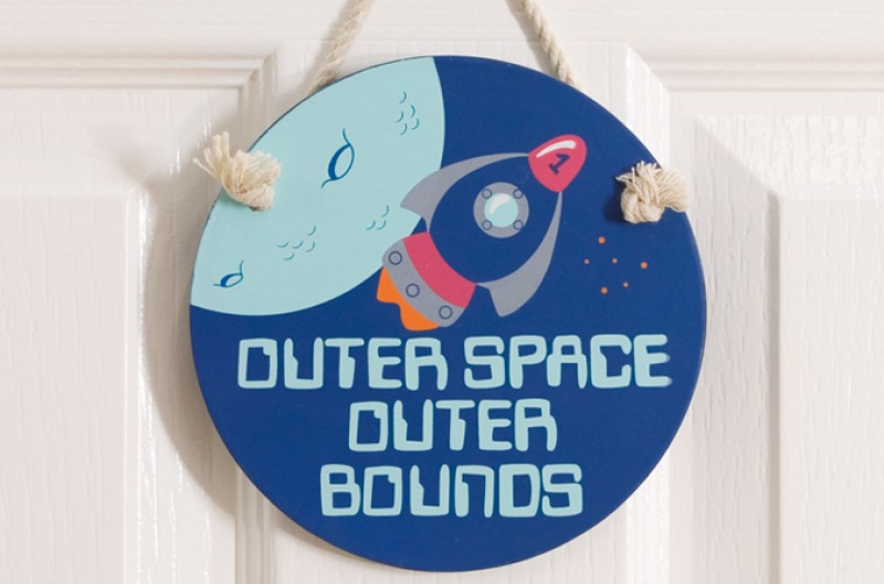 Rocket Door Plaque