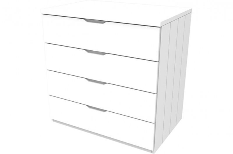 Savannah White Four Drawer Chest