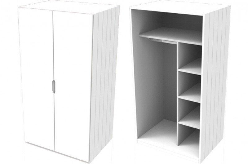 Savannah White Small Wardrobe