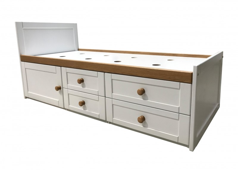 Sierra White Storage Bed