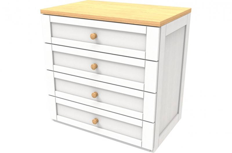 Sierra White Four Drawer Chest