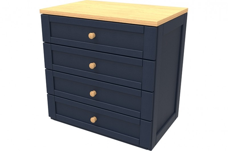 Sierra Navy Four Drawer Chest