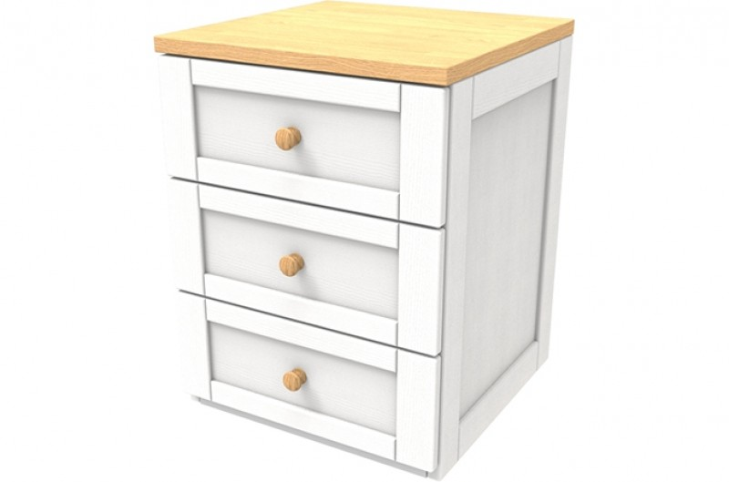 Sierra White Three Drawer Chest