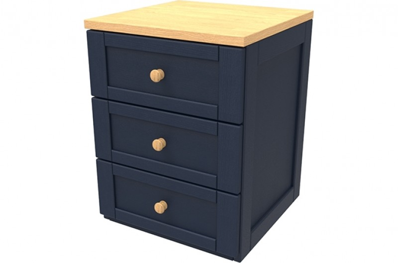 Sierra Navy Three Drawer Chest
