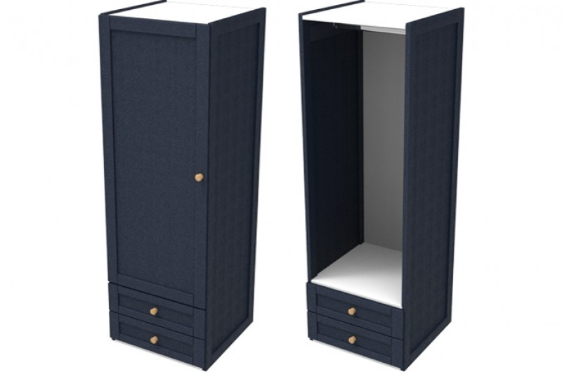 Sierra Navy Single Combi Wardrobe