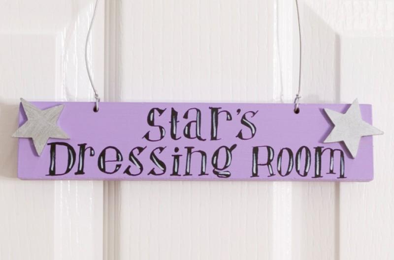 Stars Dressing Room Door Plaque