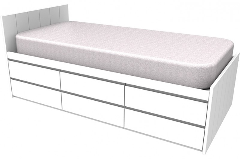 Armada White Storage Bed