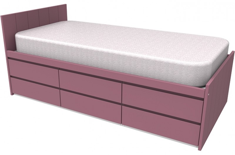 Armada Pink Storage Bed
