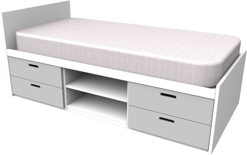 Cheyenne Grey Storage Bed