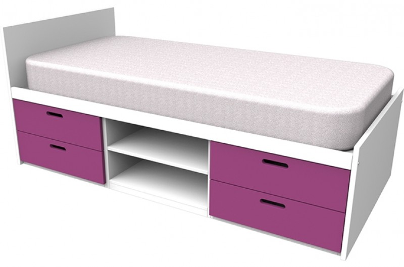 Cheyenne Pink Storage Bed