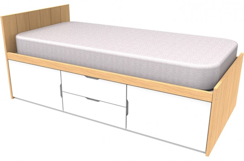 Savannah White Storage Bed