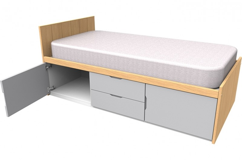 Savannah Grey Storage Bed