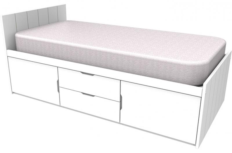Savannah White Storage Bed