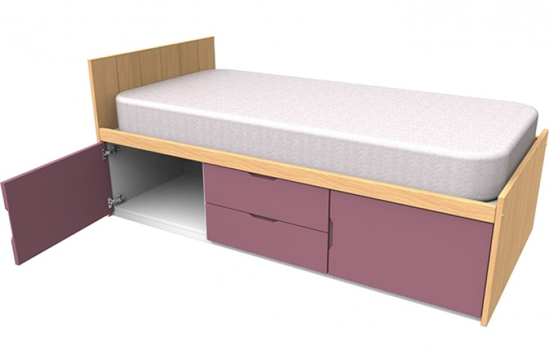Savannah Pink Storage Bed