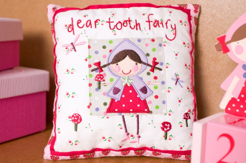 Strawberry Patch Tooth Fairy Cushion