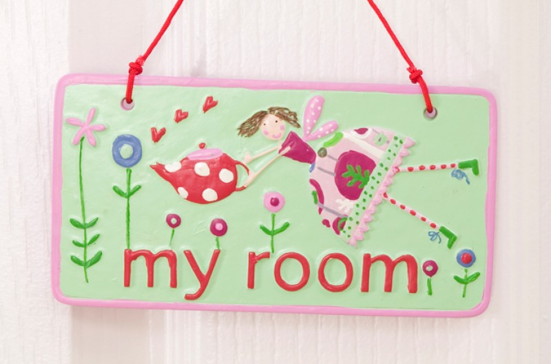 Tea Party My Room Plaque