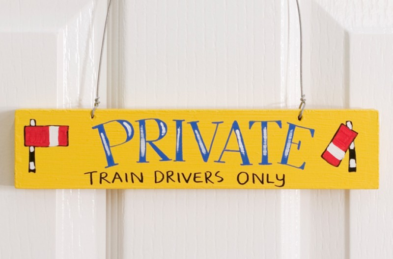 Train Door Plaque