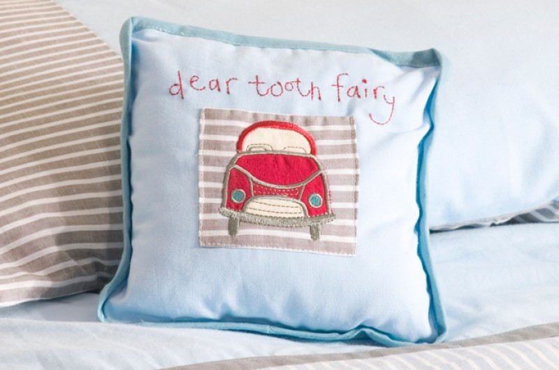 Vintage Cars Tooth Fairy Cushion
