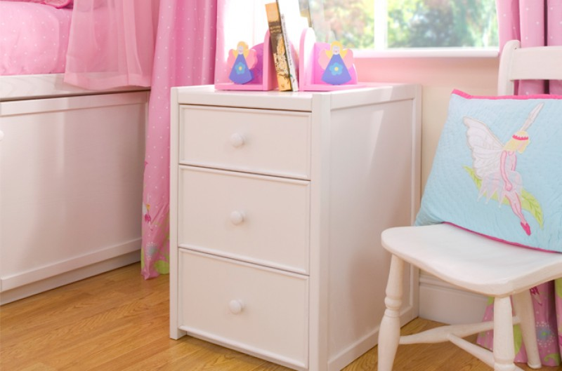 White Three Drawer Chest