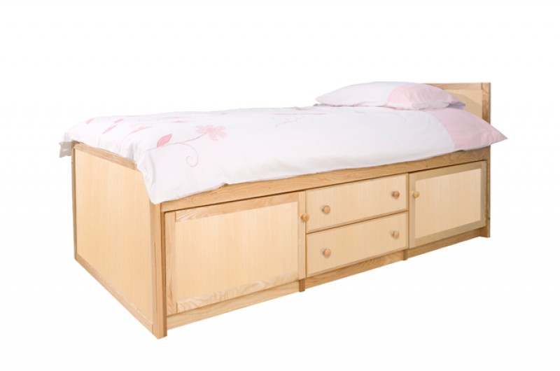 Wooden Storage Bed