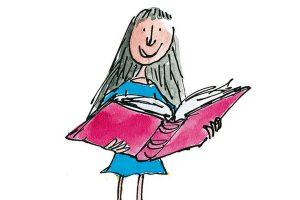 Matilda reading a book