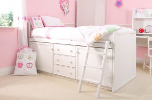 Kids Cabin Bed White